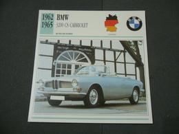 CARTOLINA CARD SCHEDA TECNICA  AUTO  CARS  BMW CS CABRIOLET - Altre Collezioni