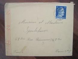 Allemagne France 1943 LAGER Daimler Benz Censure Lettre Enveloppe Cover Guerre Deutsches Reich DR STO Censure - Marcofilie (Brieven)