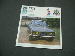 CARTOLINA CARD SCHEDA TECNICA  AUTO  CARS  ROVER 3500 P6B - Altre Collezioni