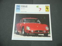 CARTOLINA CARD SCHEDA TECNICA  AUTO  CARS  FERRARI 250 GTO - Altre Collezioni