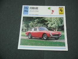 CARTOLINA CARD SCHEDA TECNICA  AUTO  CARS  FERRARI 250 GT LUSSO - Altre Collezioni