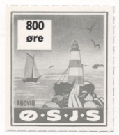 Denmark, O.S.J.S. Railway Parcel Stamp, 800 Ore - Other