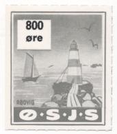 Denmark, O.S.J.S. Railway Parcel Stamp, 800 Ore - Denmark