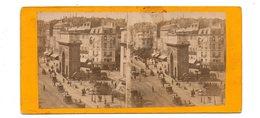 Photo Stéréoscopique - PARIS - Porte St Martin - Stereoscopic