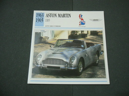CARTOLINA CARD SCHEDA TECNICA  AUTO  CARS  ASTON MARTIN DB5 - Altre Collezioni