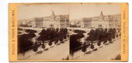 Photo Stéréoscopique - Villes Et Ports Maritimes - Hôtel De Ville Et Orangerie Au HAVRE - Photos Stéréoscopiques