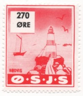 Denmark, O.S.J.S. Railway Parcel Stamp, 270 Ore - Other