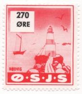 Denmark, O.S.J.S. Railway Parcel Stamp, 270 Ore - Denmark