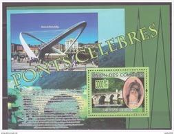 0174 Comores 2009 Brug Bridge Visegrad  S/S MNH - Bruggen