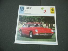 CARTOLINA CARD SCHEDA TECNICA  AUTO  CARS  FERRARI 330 GT - Altre Collezioni