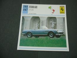 CARTOLINA CARD SCHEDA TECNICA  AUTO  CARS  FERRARI 275 GTS - Altre Collezioni
