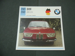 CARTOLINA CARD SCHEDA TECNICA  AUTO  CARS BMW 2000 C-CS - Altre Collezioni