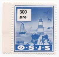 Denmark, O.S.J.S. Railway Parcel Stamp, 300 Ore - Denmark