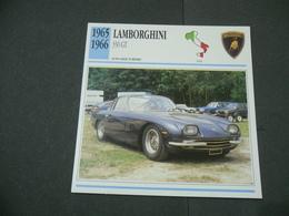 CARTOLINA CARD SCHEDA TECNICA  AUTO  CARS  LAMBORGHINI 350 GT - Altre Collezioni