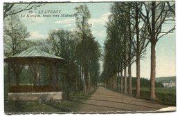 CPA - Carte Postale - Belgique - Stavelot - Le Kiosque - Route Vers Malmedy (SV6777) - Stavelot