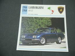 CARTOLINA CARD SCHEDA TECNICA  AUTO  CARS  LAMBORGHINI 400 GT - Altre Collezioni