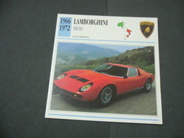 CARTOLINA CARD SCHEDA TECNICA  AUTO  CARS  LAMBORGHINI MIURA - Altre Collezioni