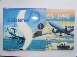 """M/MS23 BELGIQUE Série """"Fleur De Coin"""" FDC 1998 (FR+FL) 75ème Anniversaire SABENA - 1993-...: Albert II"""