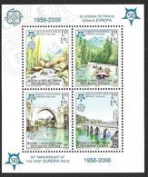 Bosnia Erzegovina Bosnie Bosnien 2005 50 Jahre Europamarken 2006 Michel Bl. 13A (339-42) MNH Postfrisch Mint Neuf ** - Europa-CEPT
