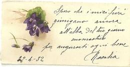 """2110 """" VIOLETTE - 1932 """"  BIGLIETTO AUGURALE ORIGINALE - Vecchi Documenti"""
