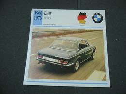 CARTOLINA CARD SCHEDA TECNICA  AUTO  CARS BMW 2800 CS - Altre Collezioni