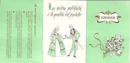"""2111 """" GRODER - FERRO & GRODER - CERTIFICATO DI GARANZIA """"  ORIGINALE - Altri"""