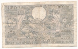 BELGIQUE 100 FRANCS-20 BELGAS 1937  - 2 SCANS - [ 2] 1831-... : Koninkrijk België