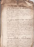 Gen D'Auch 1er Fev 1736 Cahier Des Charges Vente Du Quart En Reserve Du Bois D'Izaut Eaux Et Forets St Gaudens (8 Scans - Cachets Généralité