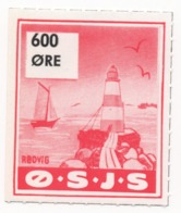 Denmark, O.S.J.S. Railway Parcel Stamp, 600 Ore - Denmark