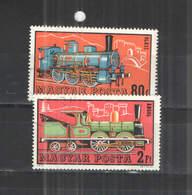 Ungheria  PO 1972 Locomotive  Scott.2125+2128+See Scan On Album Tematiche; - Hungary