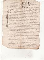 Gen D'Auch 18 Octobre 1750 Procès Verbal De Division Des Coupes Des Bois Communs De Soueich Eaux Et Forets (3 Scans) - Cachets Généralité