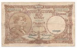 BELGIQUE 20 FRANCS  02 06 47  - 2 SCANS - [ 2] 1831-... : Royaume De Belgique