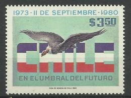CHILE  1980 ANDEAN CONDOR MNH - Birds