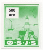 Denmark, O.S.J.S. Railway Parcel Stamp, 500 Ore - Other