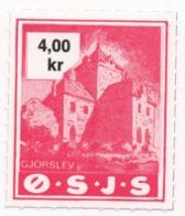 Denmark, O.S.J.S. Railway Parcel Stamp, 4 Krone - Denmark