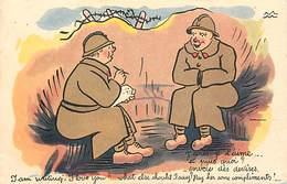 -ref-B438- Militaria - Humoristiques -  Humour - Illustrateurs - Illustrateur - Militaires -lettre : Envoie Des Devises - Humoristiques