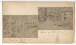 CHAMP DU BOULT PERE ZIDORE 2 DESSINS DE ANDRE VARENNES (1882 - 1972) Format 6,7 X 10,5 Cm Env. /FREE SHIPPING R - Dessins
