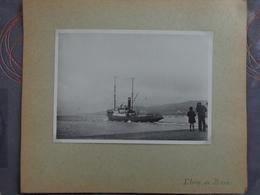 13 BERRE ETANG DE BERRE BATEAU NAVIRE    GRANDE PHOTO 17.7 X 13 CM VERS 1940 - Places