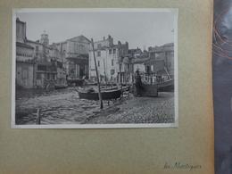 13 MARTIGUES BARQUES DE PECHEUR VILLE    GRANDE PHOTO 17.7 X 13 CM VERS 1940 - Places