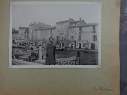 13 MARTIGUES BARQUES DE PECHEUR VILLE BIS    GRANDE PHOTO 17.7 X 13 CM VERS 1940 - Places