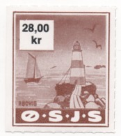 Denmark, O.S.J.S. Railway Parcel Stamp, 28 Krone - Other