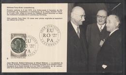 Éditions Tony Krier Luxembourg Serie Europe 1972  Robert Schumann, Albert Wehrer Und Jean Monnet - Maximum Cards