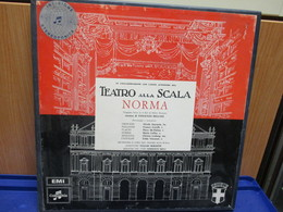 LP076 - COFANETTO 3 LP + LIBRETTO - NORMA -NICOLA ZACCARIA-FRANCO CORELLI-PIERO DE PALMA-MARIA CALLAS-CHRISTA LUDWIG - Opera