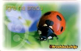 CROAZIA* - Scheda A Chip Usata - Coccinelle