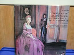 LP077 - COFANETTO 2 LP + LIBRETTO - MANON LESCAUT -RENATA TEBALDI-MARIO DEL MONACO-FERNANDO CORENA - Opera
