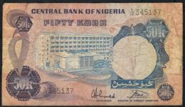NIGERIA P14g 50 KOBO 1973 Signature 10  VF  NO P.h. - Nigeria