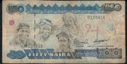 NIGERIA P27c 50 NAIRA  1991 Signature 13  VF  NO P.h. - Nigeria
