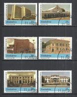 ZIMBABWE 1990 - BUILDINGS OF HARARE - CPL. SET - USED OBLITERE GESTEMPELT USADO - Zimbabwe (1980-...)
