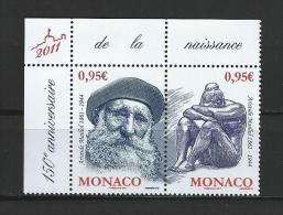 "Monaco YT 2766 & 2767 Paire "" Aristide Maillol "" 2011 Neuf** - Monaco"