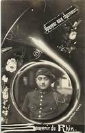 -ref-B430- Militaria - Carte Photo Souvenir Du Rhin - Honneur Aux Chasseurs Alpins - Regiment - Regiments - - Régiments